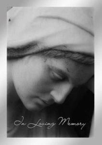 Trauerkarte Umschlag beschriften persönlich